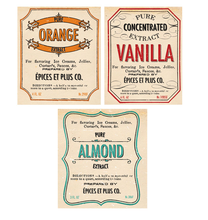 spanguole.com » Creative Co-op, Inc. © / Vintage Extract Labels
