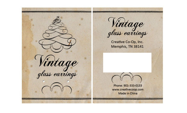 vintag earings label 1