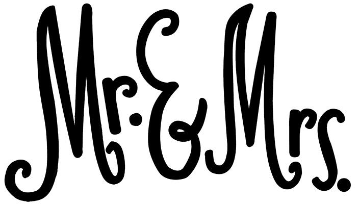 MR&MRS pillow