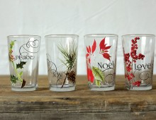 Creative Co-op, Inc. © / Drinking Glass with Vintage Floral Decal