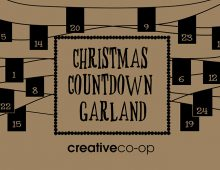 Creative Co-op, Inc. © / Christmas Countdown Garland and Bags labels