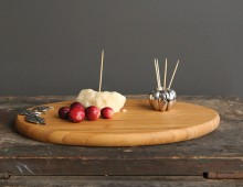 Creative Co-op, Inc. © / Cheese Board with Pumpkin Toothpick Holder
