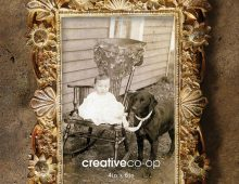Creative Co-op, Inc. © / Resin Photo Frame with Flowers