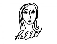 Creative Co-op, Inc. © /  Girl's Faces & Salutation