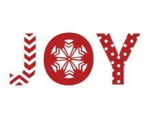 Creative Co-op, Inc. © / Christmas Words & Pattern